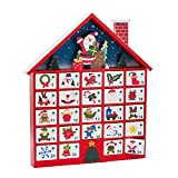 Kurt Adler C6300 Wooden Advent Calendar with Ornaments, 16-Inch