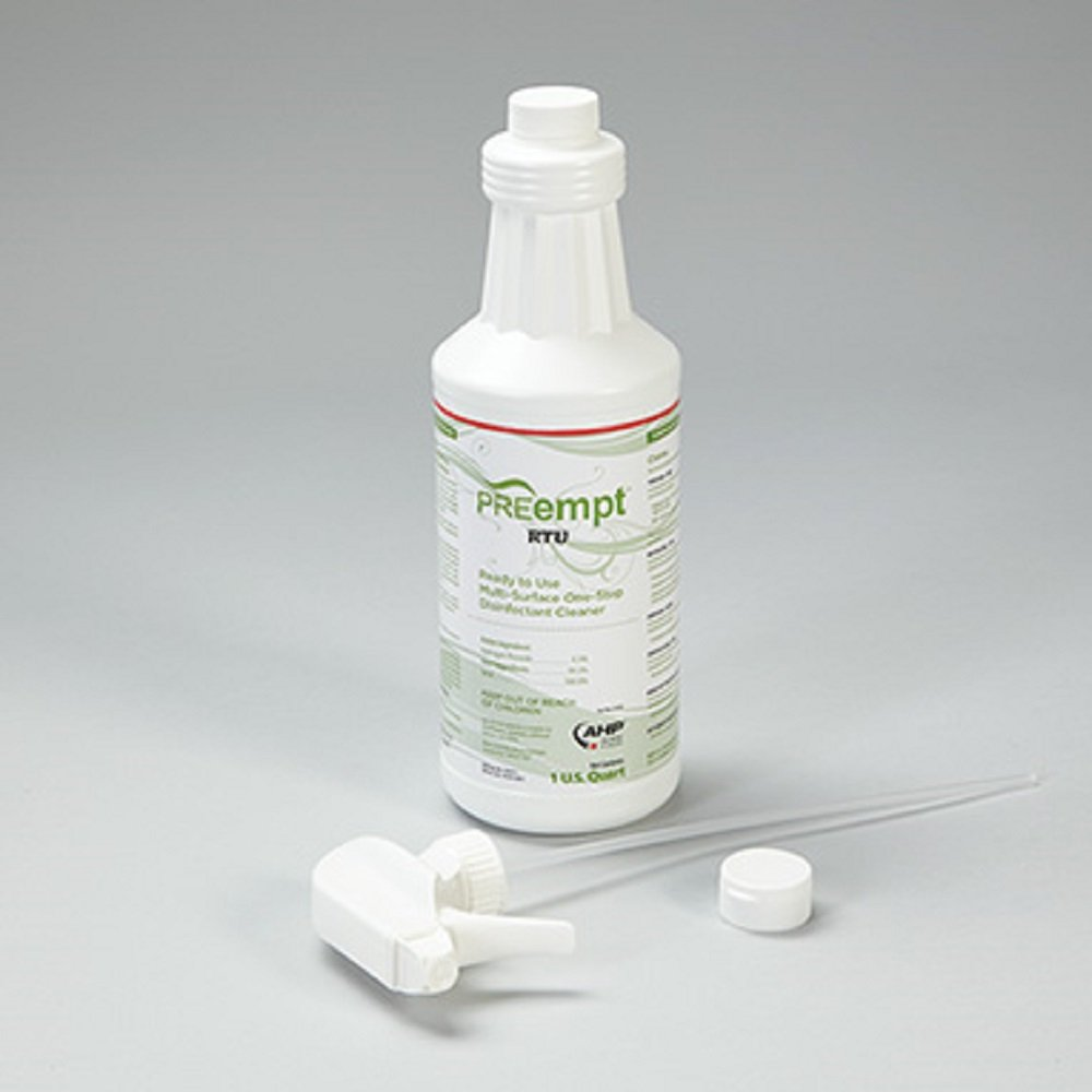 Devine Medical PREempt One-Step Surface Cleaner and Disinfectant, Trigger Spray, Case of 12