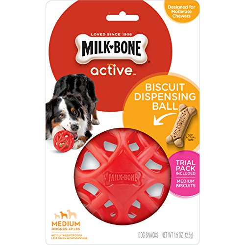 Milk-Bone Active Biscuit Dispensing Ball, Interactive Dog Treat Dispensing Dog Toy, -