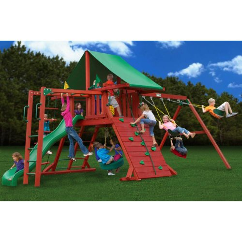 Sun Valley Swivel Wood (Gorilla Playsets Sun Valley II with Monkey Bars Playground System)