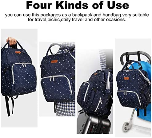 51LtXlqvMKL. AC - EssFeeni Diaper Bag Backpack For Women Large Maternity Mommy Bag Waterproof Baby Nappy Bags For Travel