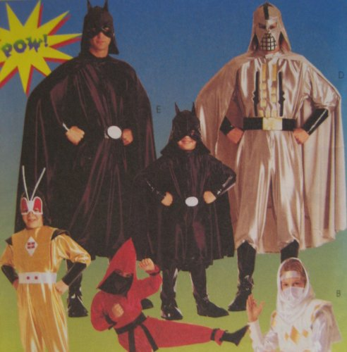 McCall's 8334 Adult Size 42, 44 Star Wars, Nija, Batman Costume Pattern Super Heros for $<!--$7.99-->