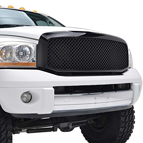 EAG Ram Replacement Upper Grille Mesh ABS Grill for 06-08 Dodge Ram 1500/06-09 Ram 2500/3500
