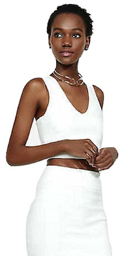 Nueva mujer 2 piezas color blanco Midi falda conjunto vestido vestido de fiesta Club Wear talla