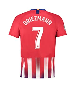 214069c39 Amazon.com  Griezmann  7 Atletico Madrid 2018-2019 Home Men s Jersey ...