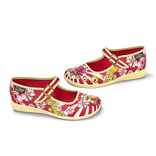 Chocolate Caliente Diseño Chocolaticas Neko Mujeres Mary Jane Flat Multicolor