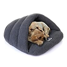 Yuting Cozy Plush Pet Bed Cave Mat for Small Dog Cat(S/M/L) (S, gray) by Yuting