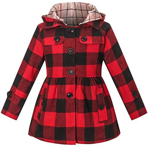 BINPAW Girls Hooded Trench Coat