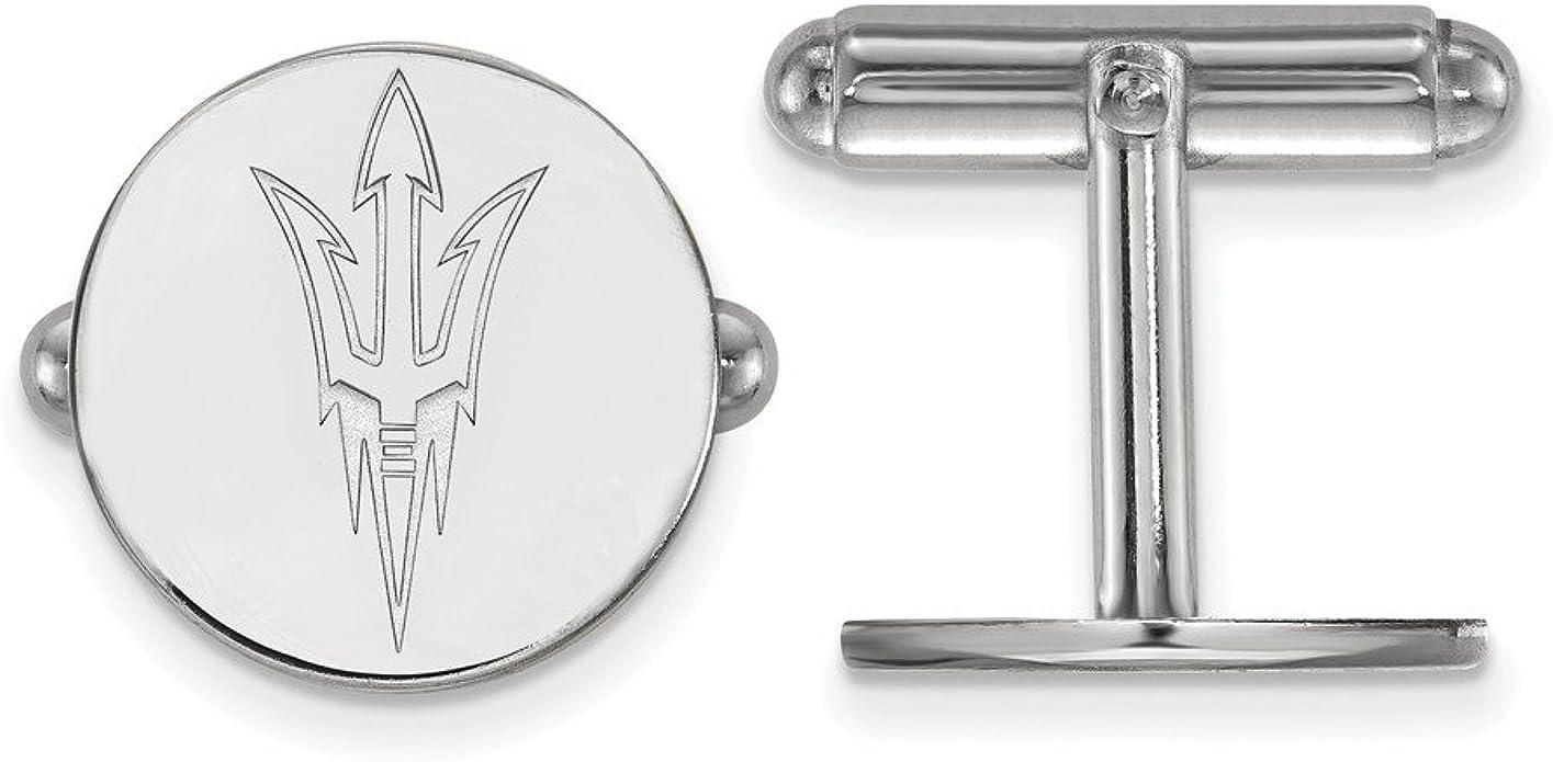 Gold-Plated Sterling Silver East Carolina University Crest Cuff Links by LogoArt