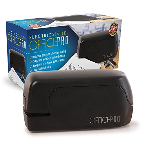 OfficePro Electric Stapler, Battery-Powered, Heavy-Duty and Compact, Perfect for Home, Office, Classroom and School, Save Time by Stapling up to 20 Sheets of Paper at Once!
