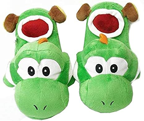 cfe99f329f6 Amazon.com  Super Mario Brothers   Yoshi Slippers (Green)  Toys   Games