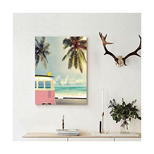Liguo88 Custom canvas Inspirational Beach Surf Decor Minivan