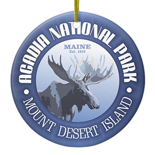 Bar Harbor Ornament (Zazzle Acadia National Park (moose) Metal Ornament Circle)