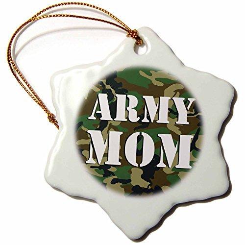 (Christmas Ornament Janna Salak Designs Army Mom Green Camouflage Snowflake Porcelain)