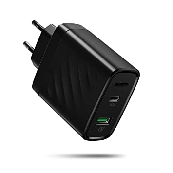 ESR 36W Doble Puerto USB C Cargador Rápido with Power Delivery & Quick Charge 3.0, Cargador para iPhone 11 Pro MAX/XS/XS MAX/XR/X/8 Plus, Samsung ...