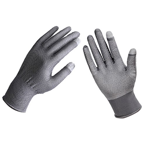 Price comparison product image Luwint Unisex Lightweight Thin Touch Screen Gloves, Texting Gloves for iPhone Smartphone Tablets, UPF 50+ Cycling Driving Gloves (Gray)