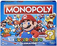 Monopoly Super Mario Celebration Edition Board Game for Super Mario Fans for Ages 8 and Up, with Video Game So