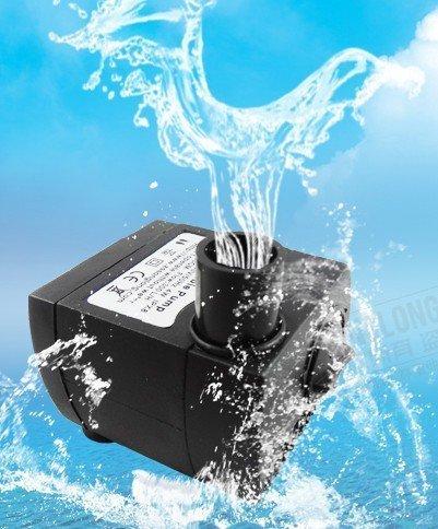 Gearmax® Umweltfreundliche Zimmerbrunnenwasserpumpe Tauchpumpe Brunnen Wasserpumpe Aquarium Pumpe mit EU-Stecker AC 220V - 240V 4W 300 L/H