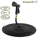 Greenspan Co. 50 ft expandable lawn hose & 7-way