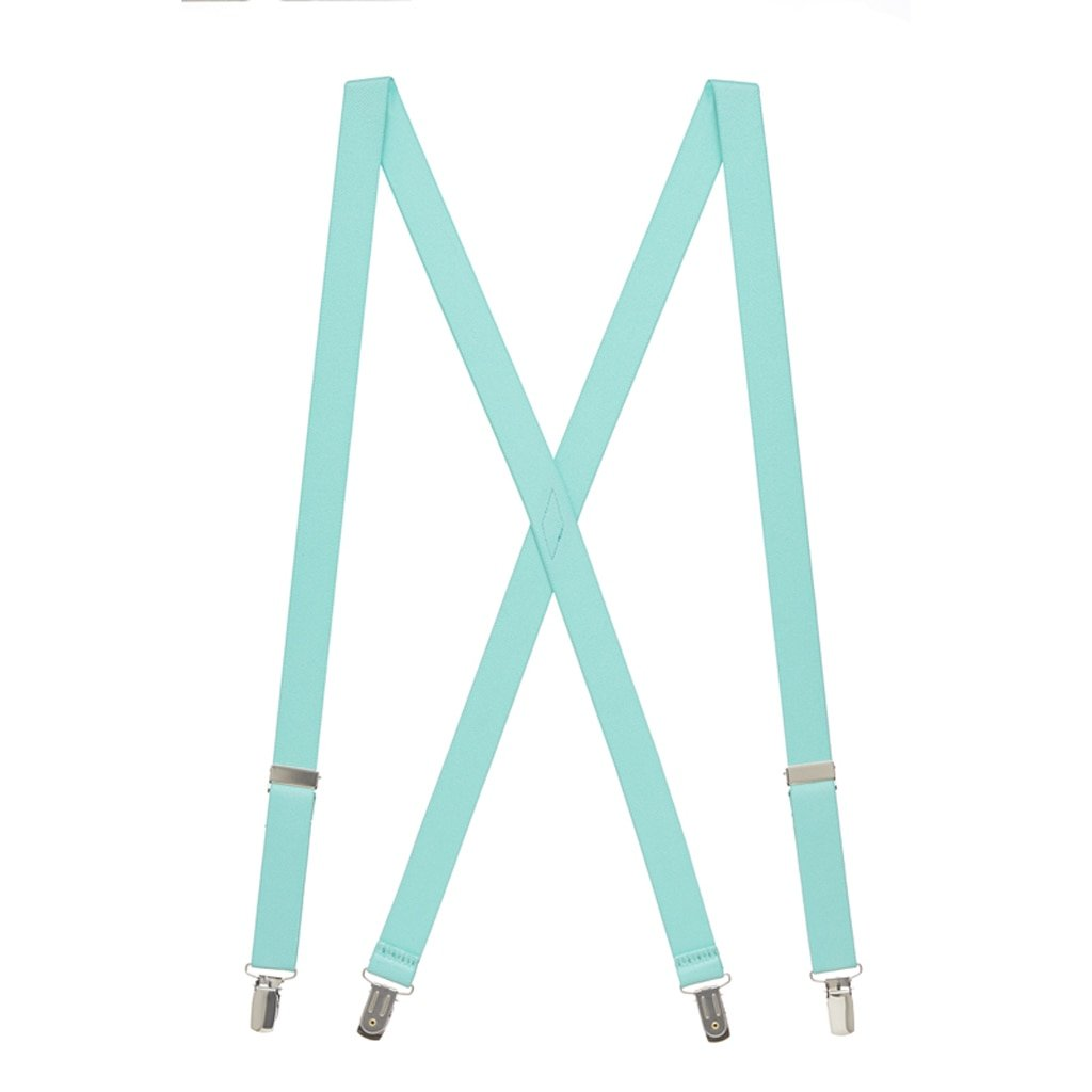 Suspender Store Mens 1 Inch Wide Clip Suspenders (X-Back) - MINT