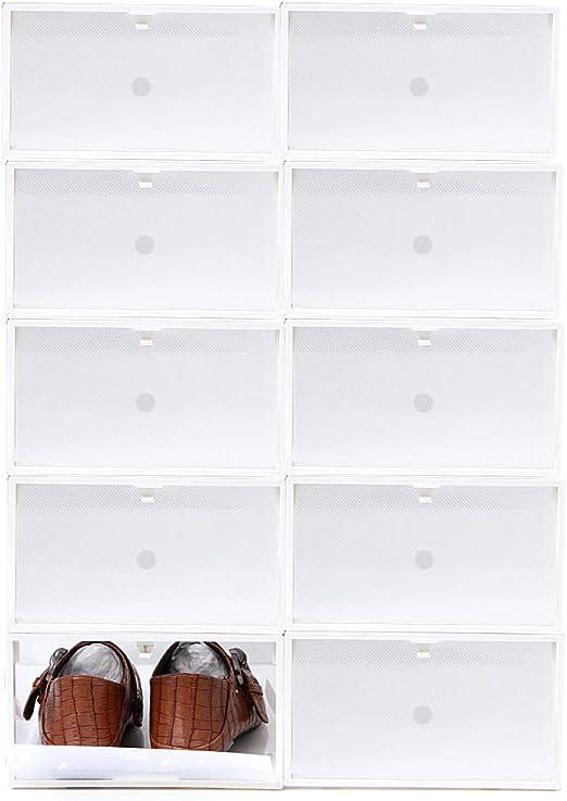 Sinbide 10 * Cajas para Zapatos Transparente Plástico, Cajas de ...