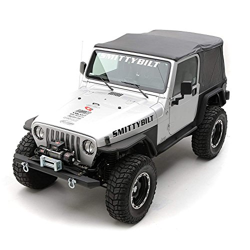 Tj 2002 Jeep (Smittybilt 9970235 Black Diamond OE Style Replacement Top with Tinted Window for Jeep Wrangler)