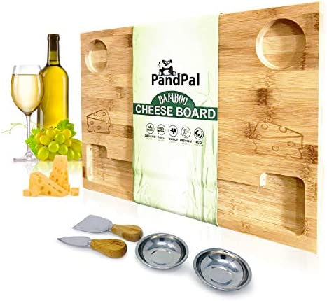 Cheesy Bamboo Cheese Board Serving product image