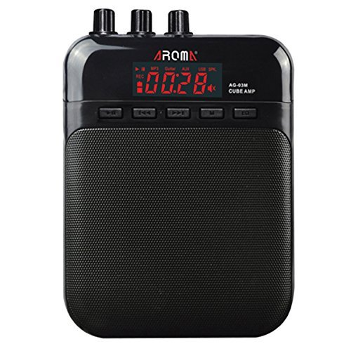 AROMA Mini Portable 5W Guitar Amp/Amplifier Recorder/Speaker with USB Cable to Recharge (Portable Guitar Amp)