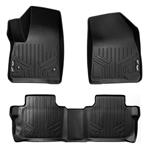 (MAX LINER A0230/B0248 Custom Fit Floor Mats 2 Liner Set Black for 2017-2019 GMC Acadia with 2nd Row Bench Seat)