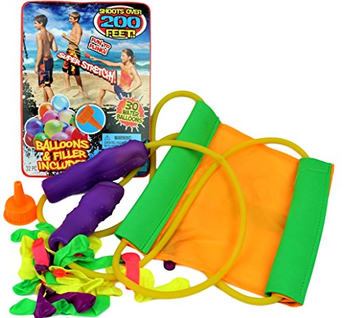 JA-RU Huge Sling Water Balloon Launcher + 30 Balloons Filler Included. Super Stretch | Item # 718 (Pack of ()