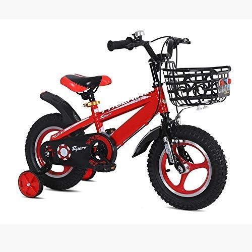 YSA 子供用自転車、子供用自転車12/14/16/18 /インチ2〜6歳の子供に適した男の子と女の子のサイクリング、青、黄、赤
