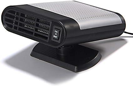 KOBWA Calentador de Coche portátil, 12 V, 150 W, 2 en 1, Ventilador portátil de refrigeración para calefacción, descongelador de Coche, Enchufe para mechero con Soporte Giratorio de 360 Grados: Amazon.es: Coche y moto