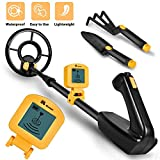 RM RICOMAX JR Metal Detector for Kids with LCD Display & Buzzer【IP68 Waterproof Coil & 2lb Lightweight】【One-Press Operation & Various Detection】 24' to 35' Adjustable Wireless Metal Detector Junior