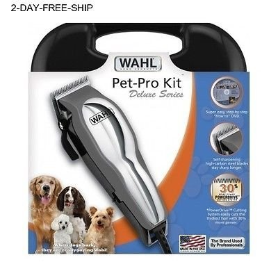 WAHL PET GROOMING CLIPPERS KIT ANIMAL DOG CAT LOW NOISE ELECTRIC HAIR TRIMMER