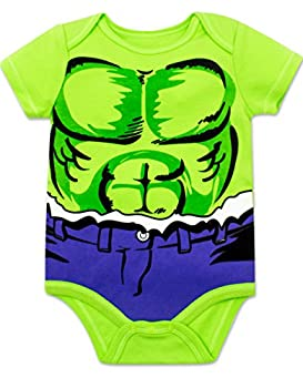 Marvel Baby Boys' 5 Pack Onesies - The Hulk, Spiderman, Iron Man & Captain America (18 Months) 1