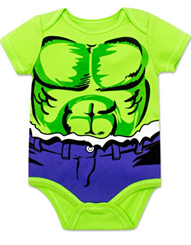 Marvel Baby Boys 5 Pack Bodysuits - The Hulk, Spiderman, Iron Man and Captain America