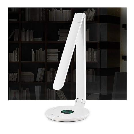 Lámpara de escritorio con cargador inalámbrico Salida USB ...
