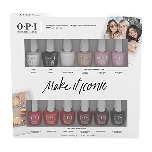 OPI 12pc Infinite Shine Mini Pack, Make it Iconic Collection (Shine Pack)