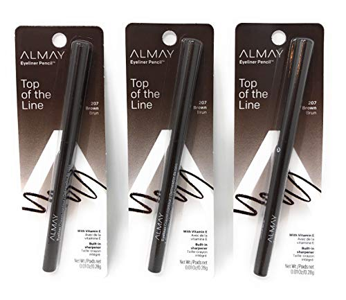 ALMAY Eyeliner Pencil, Brown 207 , 0.01 oz Pack of 3