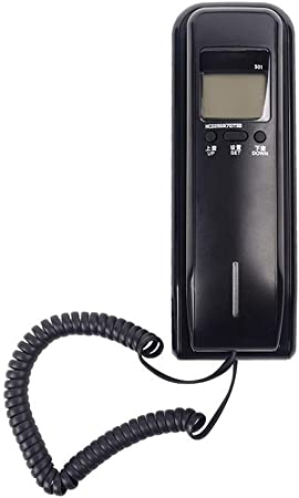XAOBNIU Teléfono inalámbrico Teléfono Fijo Góndola de la Oficina Hogar del Hotel Batería montada en la Pared Pantalla Doble Gratis Extensión (Color : Black): Amazon.es: Hogar