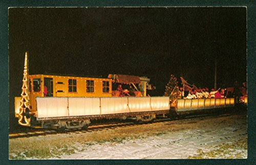 East Troy Electric Wisconsin Trolley SANTA CLAUS PARADE TRAIN Railroad Postcard