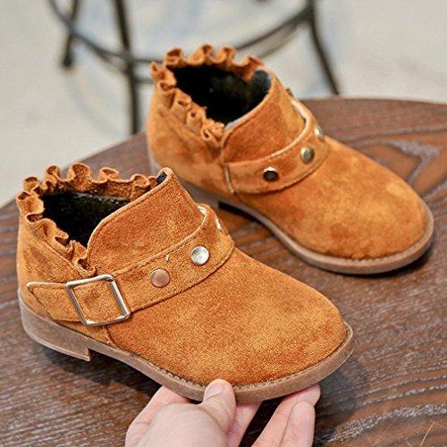 BZLine® Kleinkind Baby Girls Martin Sneaker Winter Soft Infant Casual Shoes Braun