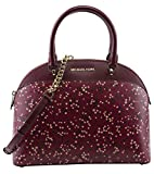 MICHAEL Michael Kors Women's Emmy Large Dome Satchel Handbag, Style 35H7GY3S3R, Mulberry