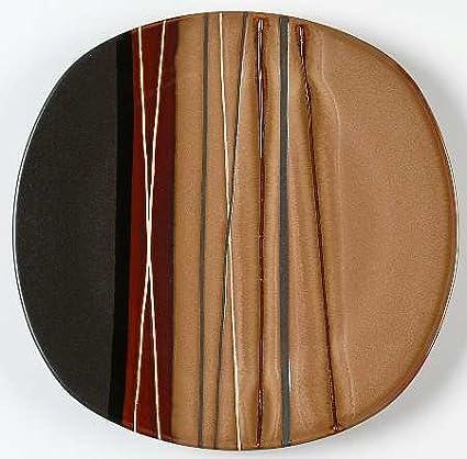 Amazon.com | Set of 4 Home Trends Bazaar-Brown Dinner Plates: Bazaar ...