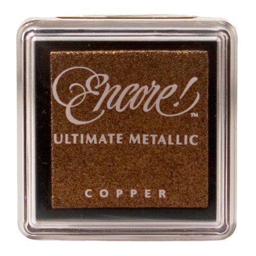 Tsukineko Small Size Encore Ultimate Metallic Pigment Inkpad, Copper