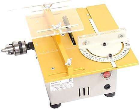 Professional Tischkreiss/äge//DIY Mini Tischkreiss/äge//Holzbearbeitung Modellschneidemaschine//Tischgr/ö/ße 240 X 200mm Gold