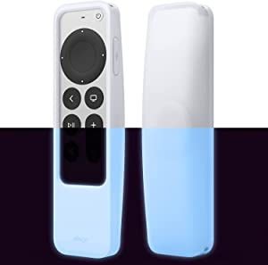 elago R5 Locator Case Compatible with 2021 Apple TV Siri Remote and Compatible with Apple AirTag - Lanyard Included, Shock Absorption, Drop Protection, Full Access to All Functions (Nightglow Blue)