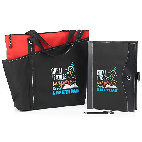 Teacher Appreciation Gift Set- Includes Tote Bag & Portfolio  - 600 Denier Polyester Portfolio