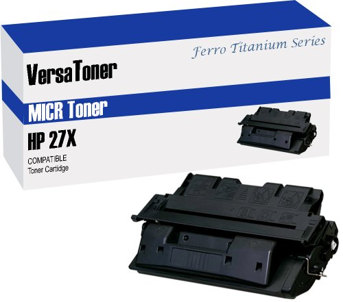 VersaToner - 27X C4127X MICR Toner Cartridge for Check Printing - Compatible with LaserJet 4000, 4050 by VersaToner