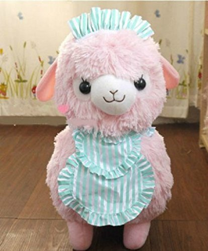 New Pink 45cm Arpakasso Alpacasso Alpaca Plush Toy Cafe Waiters and Maids